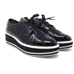 Perforated Platform Laced Shoes